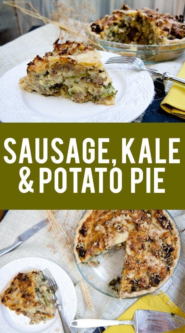 sausage, kale and mashed potato pie - Wholefully