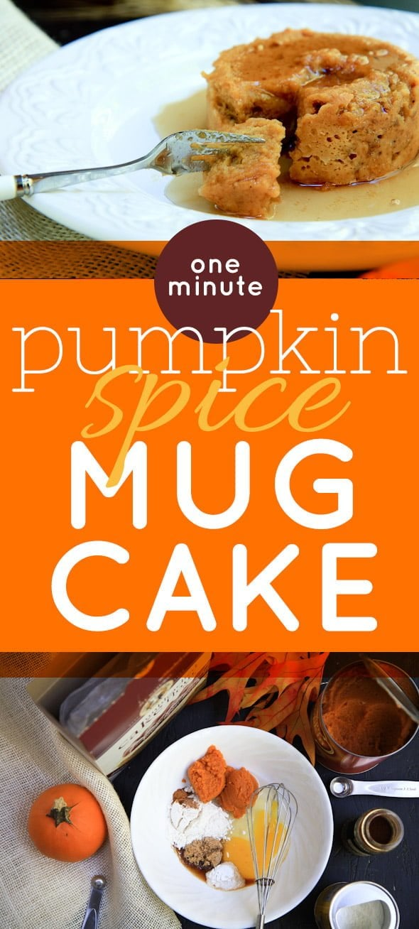 One Minute Pumpkin Spice Mug Cake