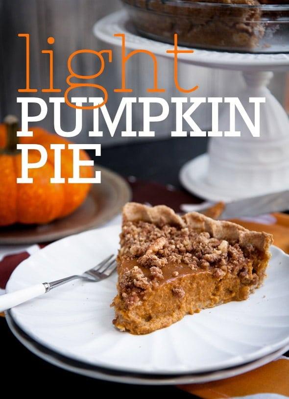 Lighter Pumpkin Pie with Cinnamon Walnut Streusel