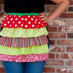 handmade holiday: ruffled apron tutorial