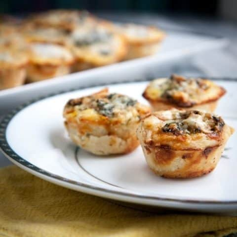 mini christmas quiche