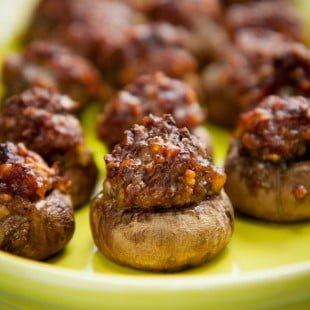 parmesan and sausage stuffed mushrooms