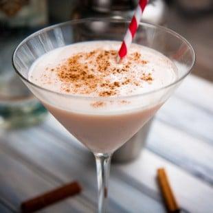 fiery eggnog martini