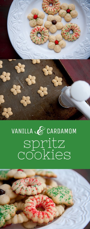 Vanilla & Cardamom Spritz Cookies