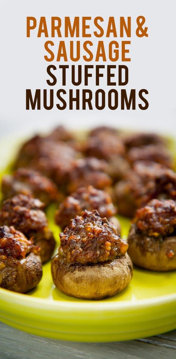 Parmesan & Sausage Stuffed Mushrooms
