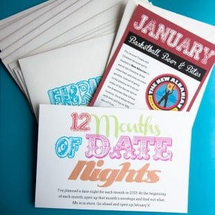 12 months of date nights: january