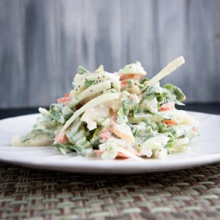 bok choy and apple greek yogurt slaw