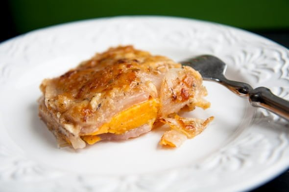 Turnip And Sweet Potato Gratin Recipe — Dishmaps