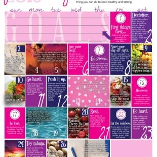 wellness calendar: february 2013 (free printable)