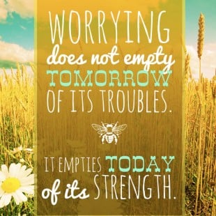 monday motivation: worrying