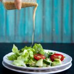 living salad with lemon-sesame dressing