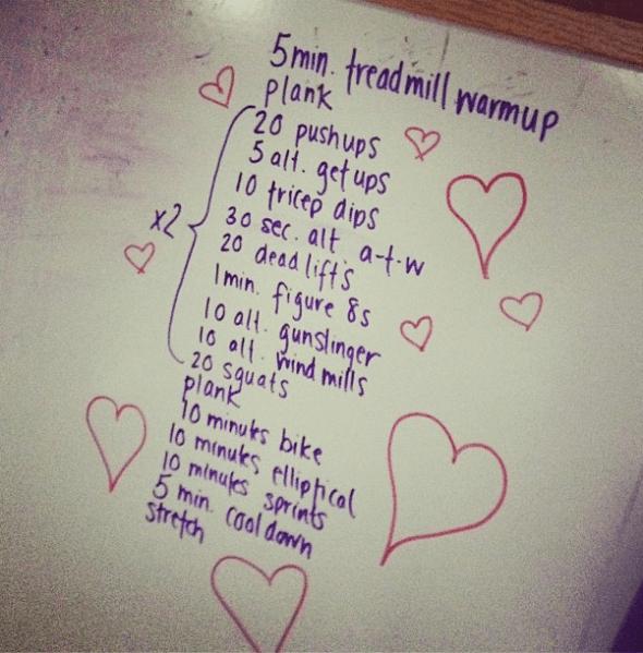 workout whiteboard gym