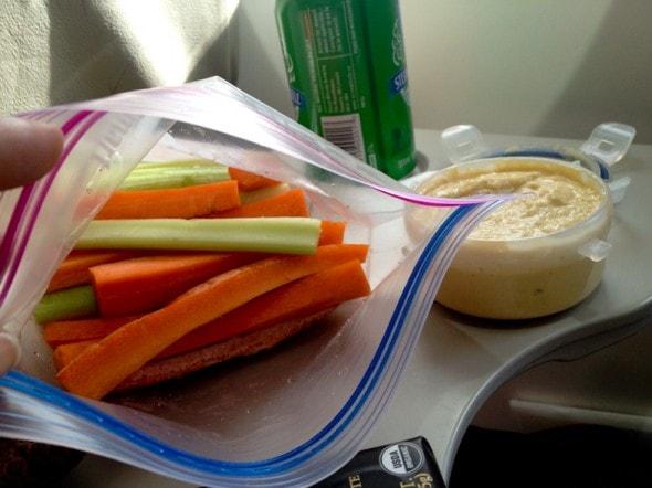 carrots celery hummus