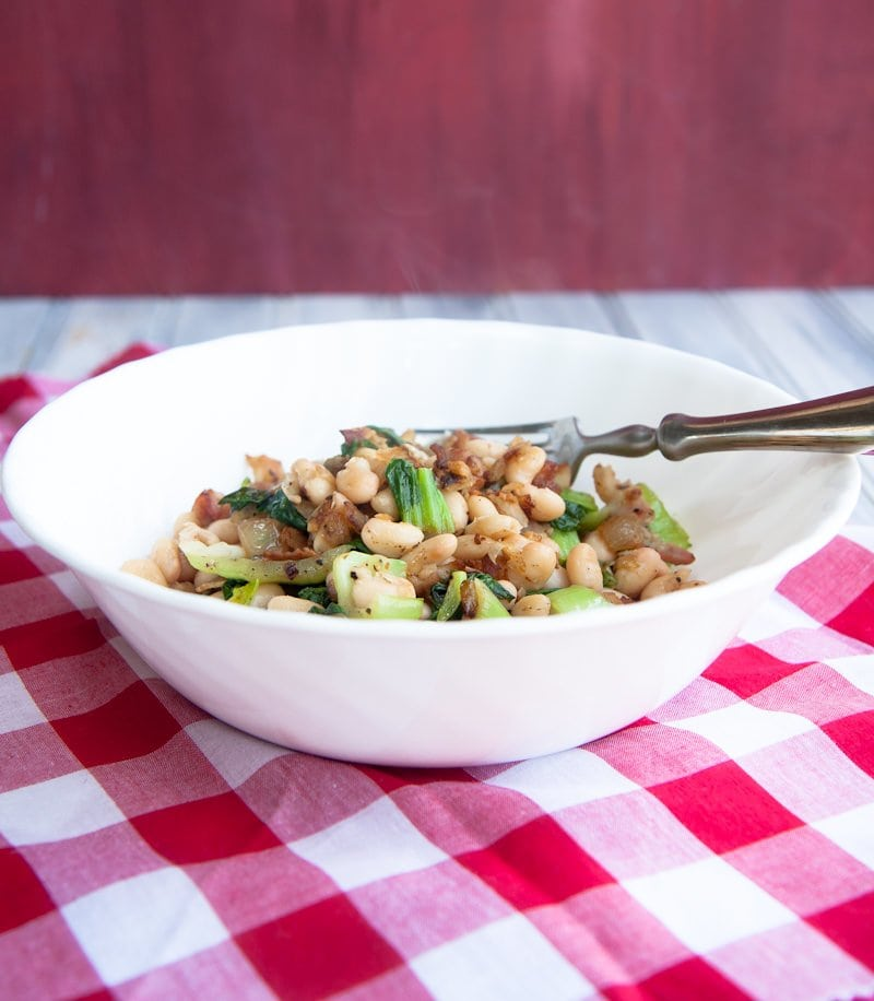 bacon beans and greens
