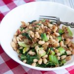 bacon, beans and greens (for one!)