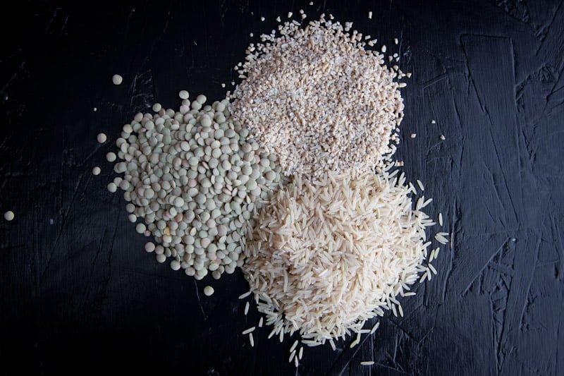 protein powder lentils, grains