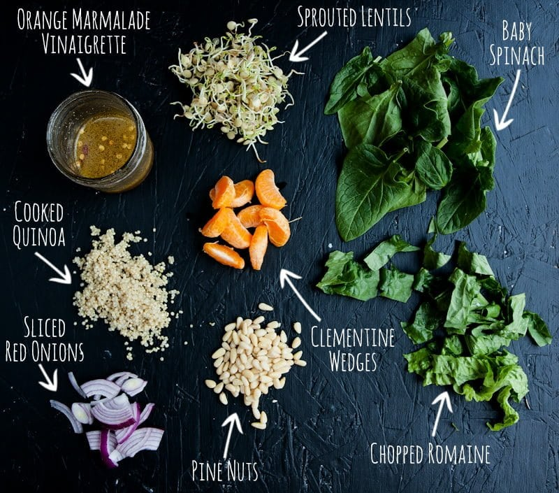 sunshine salad jar ingredients