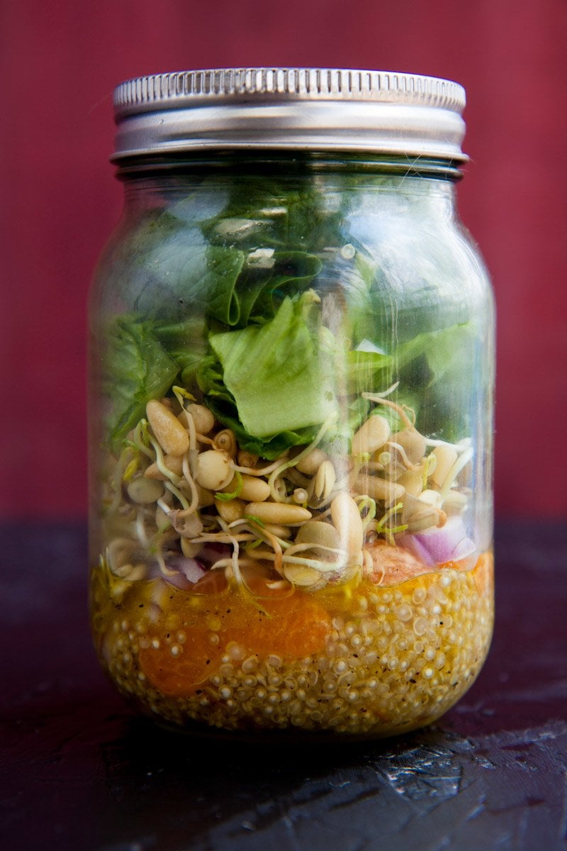 sunshine salad jar