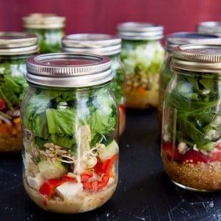 Salad-In-A-Jar 101: How to Make Mason Jar Salads + 4 Fool-Proof Salad in a Jar Recipes