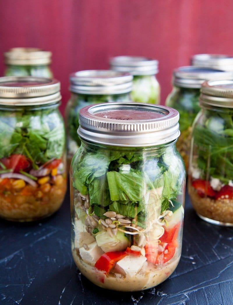Salad in a jar 101 how to make mason jar salads 4 fool proof salads in a jar forumfinder Gallery