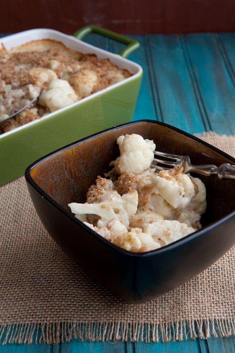 cauliflower and farro bake