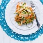 shaved asparagus, kohlrabi, and carrot salad