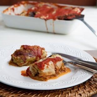 wheatberry cabbage rolls