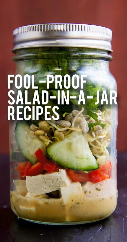 Salad In A Jar 101 How To Make Mason Jar Salads 4 Fool