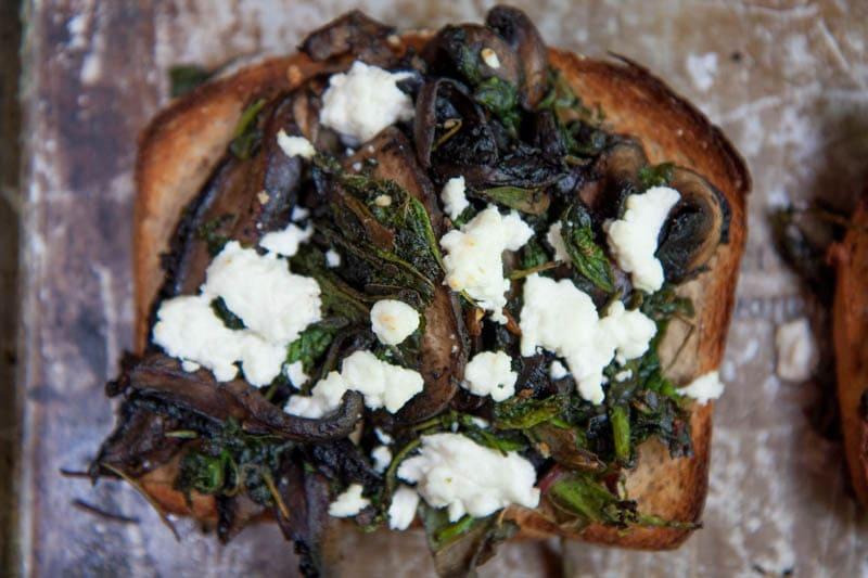 veggie toasts