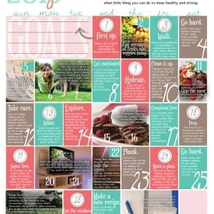 wellness calendar: may 2013 (free printable)