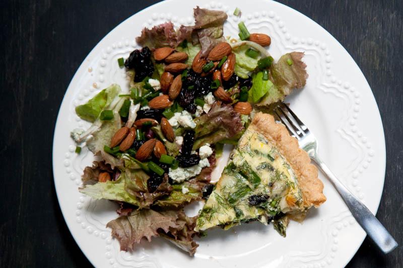 dinner quiche salad