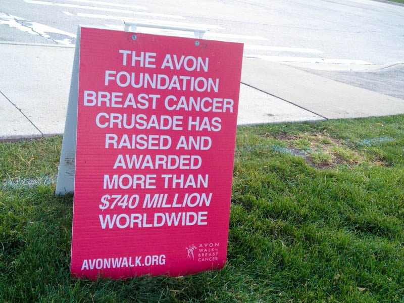 avon walk sign