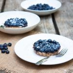 super simple whole wheat blueberry tartlets