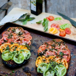 grilled tomato and herb bread