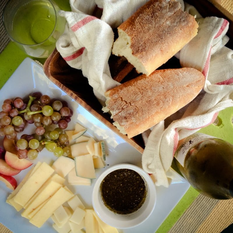 bread wine cheese