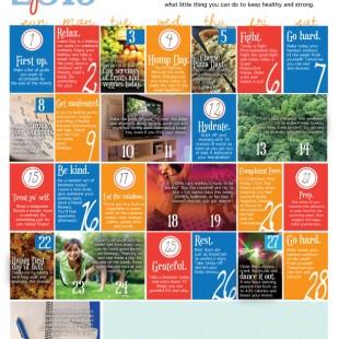 wellness calendar: september 2013 (free printable)