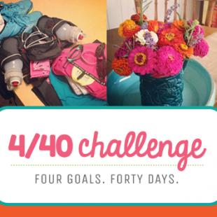 4/40 Challenge (free printable!)