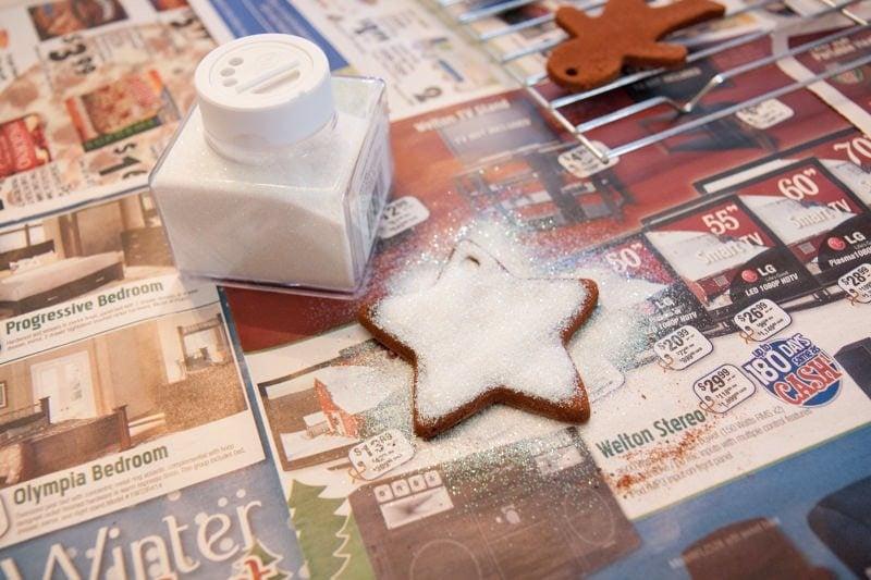 glitter cinnamon ornaments