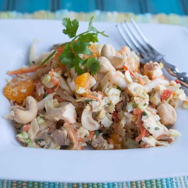 Cashew Chicken Salad with Mandarins