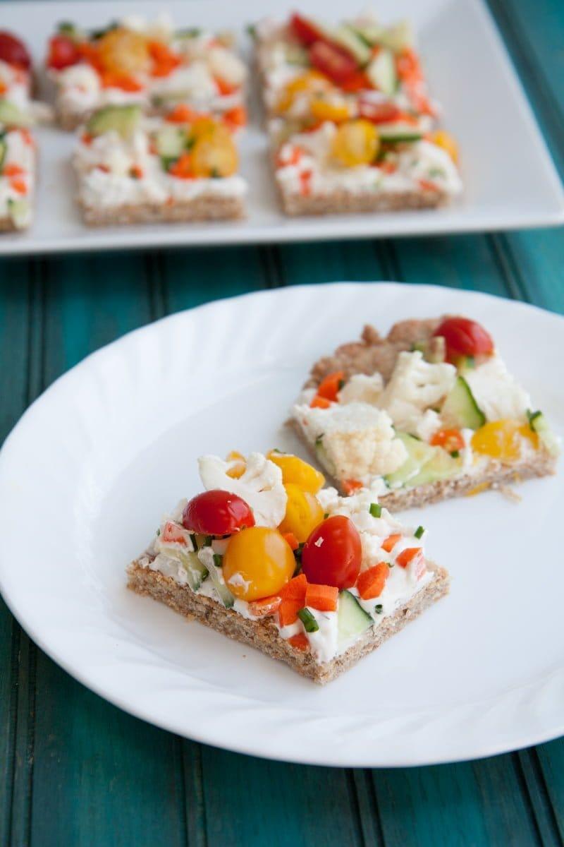 veggie pizza squares