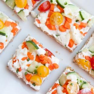 cold veggie pizza squares