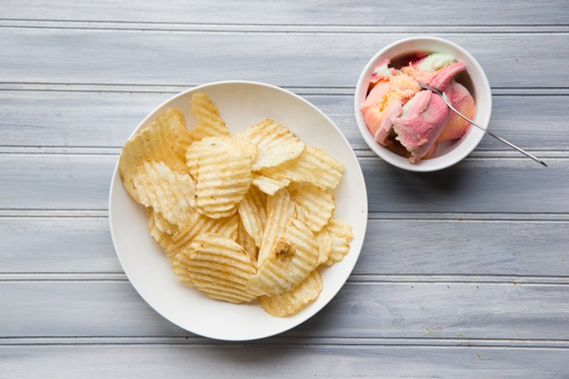 chips and sherbet