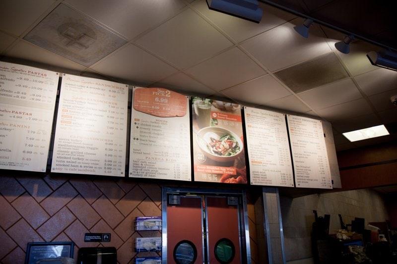 menu board panera