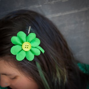Felt Shamrock Hair Pin