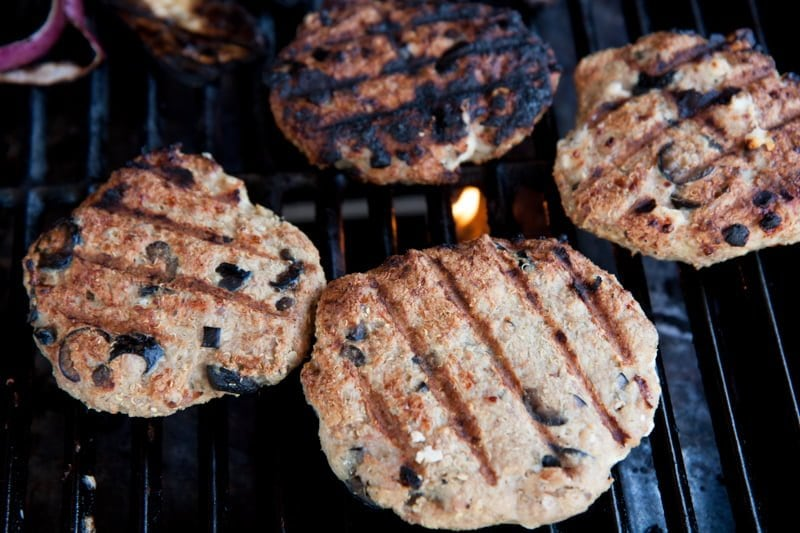 Greek turkey burgers grill