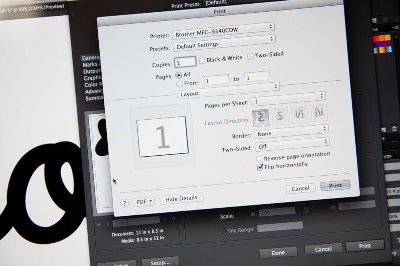 print laptop