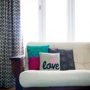 Word Applique Throw Pillow Tutorial