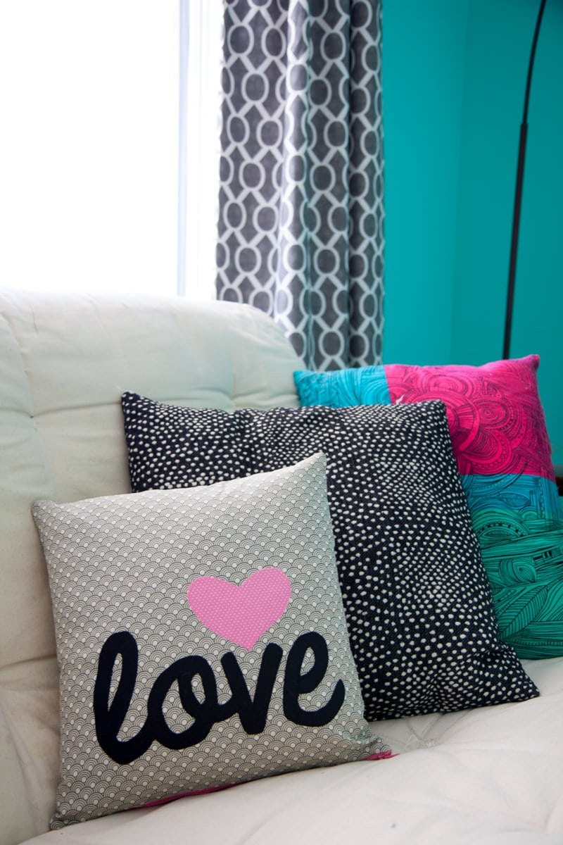 nursery futon pillow