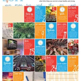 Wellness Calendar: April 2014 (free printable)