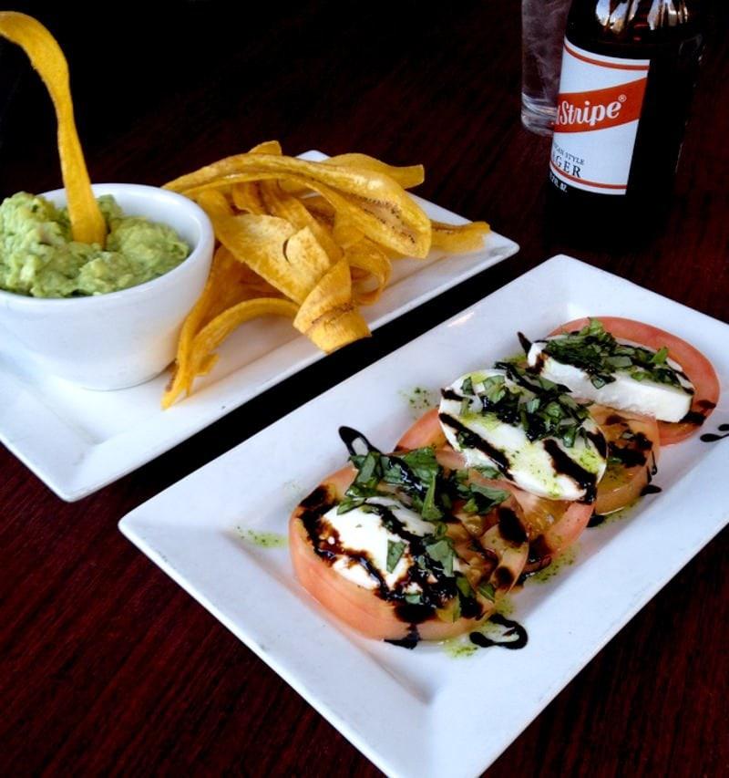guacamole and caprese